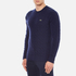 Lacoste Men's Crew Neck Cable Stitch Jumper - Midnight Blue/Chine: Image 2