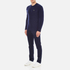 Lacoste Men's Crew Neck Cable Stitch Jumper - Midnight Blue/Chine: Image 4