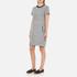 Karl Lagerfeld Women's Bonded Tweed Jersey Dress - Grey Melange: Image 4