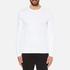 Michael Kors Men's Long Sleeve Sleek MK Crew Top - White: Image 1