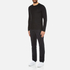 Michael Kors Men's Long Sleeve Sleek MK Crew Top - Black: Image 4