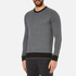Michael Kors Men's Cotton Jacquard Crew Neck Jumper - Black: Image 2