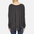 Wildfox Women's Wildfox Ca Perry Thermal Long Sleeve Top - Clean Black: Image 3