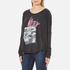 Wildfox Women's Wildfox Ca Perry Thermal Long Sleeve Top - Clean Black: Image 2