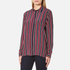 Ganni Women's Donaldson Silk Shirt - Cabernet Stripe: Image 2