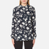 Ganni Women's Maxwell Crepe Shirt - Vanilla Ice Bell Flower: Image 1