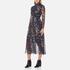 Ganni Women's Delaney Mesh Maxi Dress - Black Bouquet: Image 2
