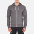 Maison Kitsuné Men's Tricolor Patch Zip Hoody - Black Melange: Image 1