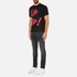 PS by Paul Smith Men's Crew Neck Short Sleeve Lip Up Logo T-Shirt - Black: Image 4