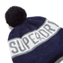 Superdry Men's Super Stripe Logo Beanie Hat - Navy Marl: Image 3
