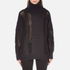 DKNY Women's Long Sleeve Oversized Turtleneck Thick/Thin Intarsia Jumper - Black: Image 1
