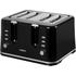 Tower T20010 4 Slice Toaster - Black: Image 1