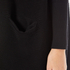 Paisie Women's Ribbed Knee Length Cardigan - Black: Image 5