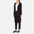 Paisie Women's Ribbed Knee Length Cardigan - Black: Image 2