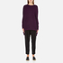 Paisie Women's Ribbed Jumper with Side Splits - Plum: Image 1