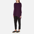 Paisie Women's Ribbed Jumper with Side Splits - Plum: Image 2