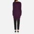 Paisie Women's Ribbed Jumper with Side Splits - Plum: Image 3