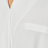 Paisie Women's Wrap Blouse with Pleated Neck - White: Image 5