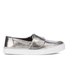 TOMS Women's Altair Leather Slip-On Trainers - Gunmetal: Image 1