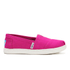 TOMS Kids' Seasonal Classics Slip-On Pumps - Fuchsia: Image 1
