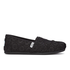 TOMS Women's Seasonal Classics Slip-On Pumps - Black Crochet Glitter: Image 1