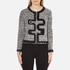 Boutique Moschino Women's Tweed Embellished Jacket - Black: Image 1