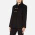 Boutique Moschino Women's Pea Coat with Gold Buttons - Black: Image 2