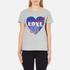 Love Moschino Women's Love Heart T-Shirt - Medium Grey: Image 1