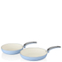 Swan Retro Frying Pans - Sky Blue (20cm/28cm): Image 1