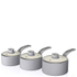 Swan Retro Saucepan Set - Grey (3 Piece): Image 1