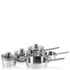 Swan Pan Set with Pouring Spouts - Stainless Steel (5 Piece): Image 1