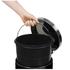 Swan Round Pedal Bins - Black (30L/5L): Image 2
