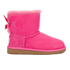 UGG Kids' Mini Bailey Bow Boots - Cerise: Image 1