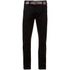 Smith & Jones Men's Ashlar Belted Slim Fit Chinos - Black Twill: Image 1