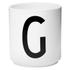 Design Letters Porcelain Cup - G: Image 1