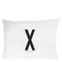 Design Letters Pillowcase - 70x50 cm - X: Image 1