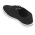 Henleys Men's Stash Canvas Pumps - Black/White: Image 4