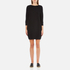 French Connection Women's Mozart Ripple Roundneck Jumper Dress - Black: Image 1