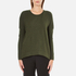 French Connection Women's Viva Vhari Long Sleeve Roundneck Jumper - Dark Olive Night: Image 1