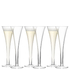 LSA Hollow Stem Champagne Flute - 200ml (Set of 6): Image 1