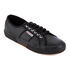 Superga Men's 2750 Fglu Leather Trainers - Full Black: Image 2