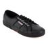 Superga Men's 2750 Fglu Leather Trainers - Full Black: Image 2