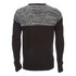 Brave Soul Men's Roland Marl Panel Jumper - Black: Image 2