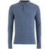 Brave Soul Men's Lincoln Long Sleeve Polo Shirt - Vintage Blue Marl: Image 1