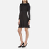 Marc Jacobs Women's Long Sleeve Dress with Crochet Collar - Black: Image 2