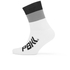 PBK Race High Cuff Socks - White/Black/Grey: Image 1
