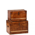 Luxury Leather Storage Trunks (Set of 2): Image 1