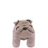 Faux Leather British Bulldog Footstool - Grey: Image 3