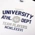 Varsity Team Players Men's University Athletic T-Shirt - White: Image 3