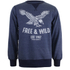 Cotton Soul Men's Free & Wild Sweatshirt - Navy Marl: Image 1